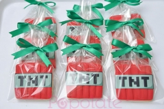 Minecraft cookies; TNT,