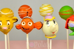 Disney characters cake pops