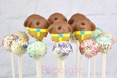 Duggee cake pops