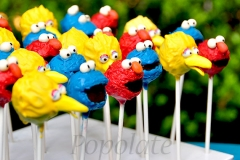 Elmo, Cookies Monster, Big Bird cake pops