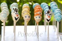 Elsa, Anna, Olaf cake pops