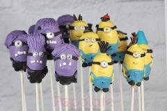 Minion cake-pops