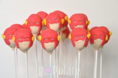 Flash superhero cake pops