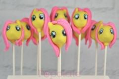 Fluttershy cake pops