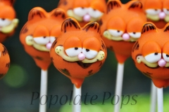 Garfield cake pops