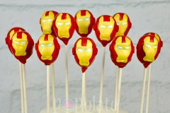 Ironman cake pops