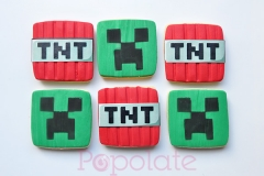 Minecraft cookies; TNT, Creeper