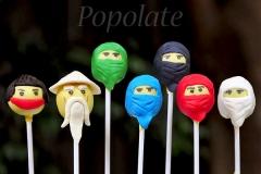 Ninjago cake pops cast