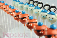Octonaut cake pops; Captain Barnacles, Peso, Kwazii