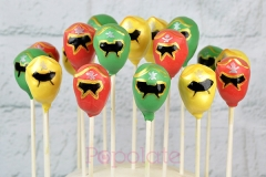 Power rangers cake pops