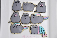Pusheen cat cookies, unicorn, donuts, mermaid