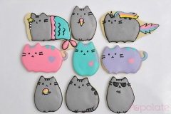 Pusheen cat cookies, unicorn, mermaid