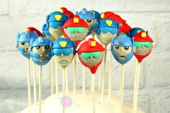 Rescue Bot cake pops