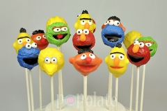 Sesame Street pop cakes