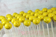 Smiley face cake pops