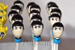 Spock Vulcan cake pops