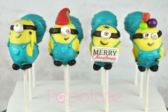 Tiffany minion cake pops