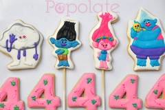 Troll cookie toppers