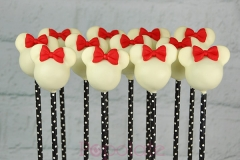 White Minnie Mouse cake pops