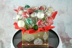 Christmas hamper cake pops