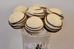 Brown White cake pops