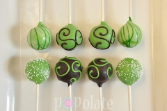 Brown green cake pops