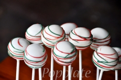 Xmas cake pops - red, green, white