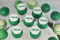 Adlib logo cake pops