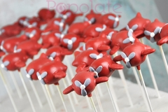 Little Prince Aeroplane cake pops