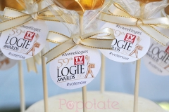 Logie award cake pops, corporate