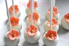 Coral flower cake pops