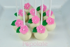 Moana flower cake pops