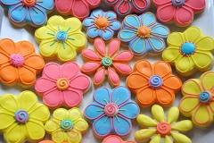 Pastel flower cookies
