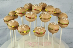 burger cake pops