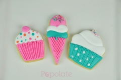 Cupcake and ice cream biscuit set
