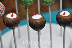 Tropical beach coconut cake pops