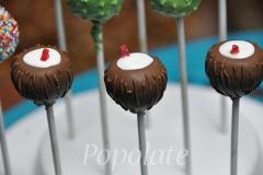 Tropical beach coconut cake pops