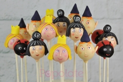 Ben and Holly cake pops