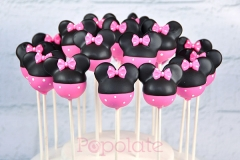 Pink Minnie cake pops