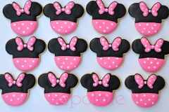 Minnie Mouse themed cookie, pink