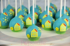 Peppa pig house cake pops