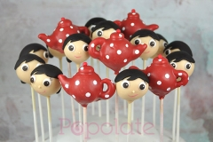 Polly put the kettle on cake pops