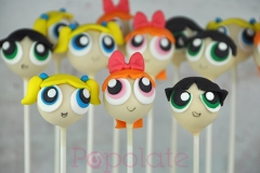 Power Puff Girls cake pops