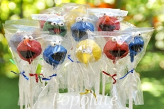 Sesame Street cake pops wrapped