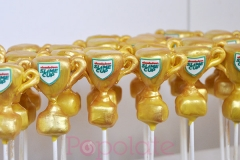 Nickelodeon Slime Cup trophy cake pops