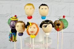 Wiggles cast cake pops