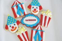 Circus clown cookies