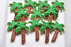 Palm tree cookies, summer holiday