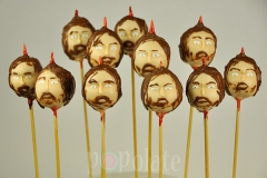 Ned Stark Game of Thrones cake pops