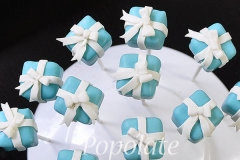 Tiffany box cake pops